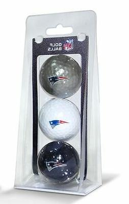 New England Patriots 3 Pack Golf Balls  NFL Golfing Pk CDG
