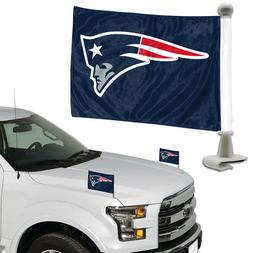New England Patriots Ambassador Car Flag Banner 2PC Set Car