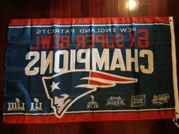New England Patriots 6 Times Super Bowl Champions 3x5 Flag b