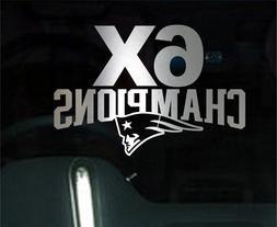 New England Patriots 6X Champions Chrome Decal Vinyl Truck C