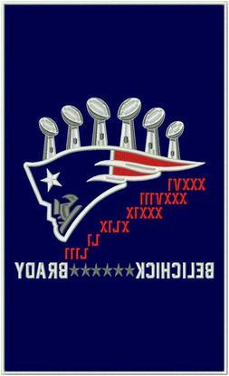 New England Patriots 6x Super Bowl Champions Brady Belichick