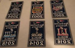 New England Patriots 6x Super Bowl Champions Banners Patch S