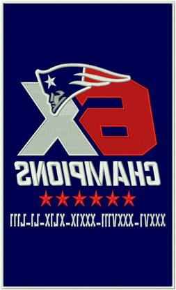 "New England Patriots 6x Super Bowl World Champions 14"" x 8.5"