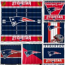 "New England Patriots 72"" x72"" Waterproof Fabric Shower Curta"