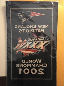 New England Patriots Banner 2001 World Champions Super Bowl
