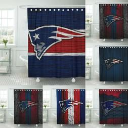 New England Patriots Bathroom Shower Curtain Set Waterproof