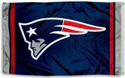 New England Patriots Blue Flag Large 3'X5' NFL Banner FREE S