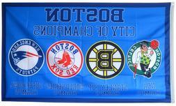 New England Patriots Boston Celtics Red Sox Bruins FLAG 3x5
