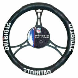 New England Patriots Car Truck Black Steering Wheel Cover NF