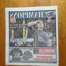 New England Patriots Champions Boston Herald Media Publicati