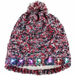 New England Patriots Chunky Knit Light Up Beanie Winter Hat