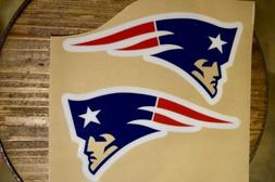 New England Patriots Clear Face Decals 3m/20mil Vinyl For Fu