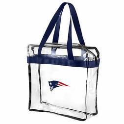 New England Patriots CLEAR Messenger Tote Bag Purse - Meets