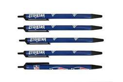 New England Patriots Click Pens 5 Pack  NFL Pen Pencil Marke