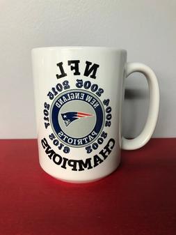 New England Patriots Coffee Mug 15oz  NFL Champions Both Sid
