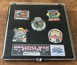 NEW ENGLAND PATRIOTS COMMEMORATIVE SUPER BOWL 39 5 PIN SET L