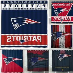 New England Patriots Design Waterproof Shower Curtain Bathro