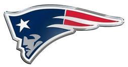 New England Patriots Die Cut Metal Auto Emblem  NFL Car Truc