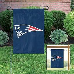 NEW ENGLAND PATRIOTS Embroidered Garden Window FLAG w/ FREE