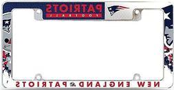 New England Patriots EZ View All Over Chrome Frame Metal Lic