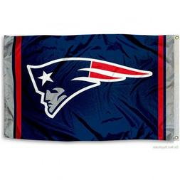 NEW ENGLAND PATRIOTS FLAG 3'X5' NFL TEAM LOGO BANNER: FREE S