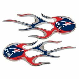 New England Patriots Flame Decals Fire Car Stickers Auto Emb