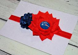 New England Patriots Flower Baby /Toddler /Girl Headband