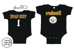 New England Patriots Football Homemade baby bodysuit.
