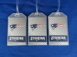 NEW ENGLAND PATRIOTS FOOTBALL LUGGAGE TAGS 3-PACK SET - 2019