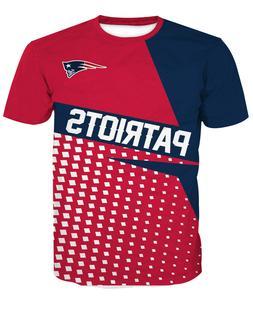 New England Patriots Football T-Shirt Sport Summer Short Sle