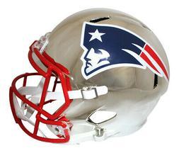 New England Patriots Full Size Chrome Speed Replica Helmet N