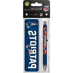 new england patriots gel pen and bookmark