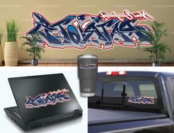 New England Patriots Graffiti Vinyl Vehicle Car Laptop Yeti