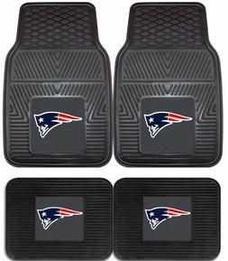 New England Patriots Heavy Duty Floor Mats 2 & 4 Pc Sets for