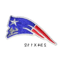 New England Patriots iron on patches, 2.75 inch embroidered