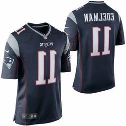 New England Patriots Julian Edelman Nike Navy Blue Game Jers