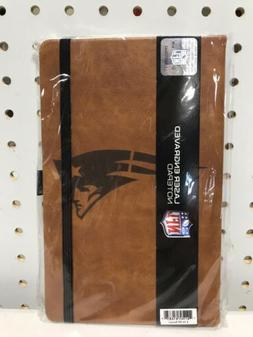 New England Patriots Leather Notepad NFL Notebook School Jou