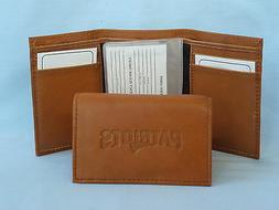 NEW ENGLAND PATRIOTS   Leather TriFold Wallet    NEW    brow