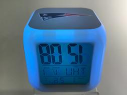 New England Patriots LED Digital Alarm Clock Watch Lamp Deco