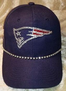 New England Patriots Licensed Women's Rhinestone Bling NFL C