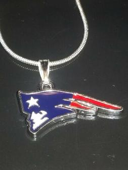 New England Patriots Logo Necklace Pendant Sterling Silver C