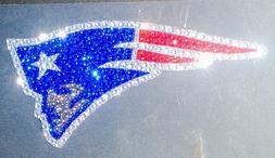 New England Patriots Logo Rhinestone Bling Auto Emblem Car L