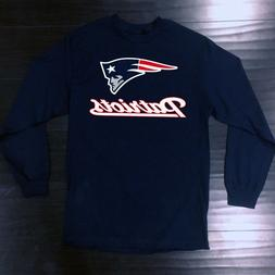 New England Patriots Long T-Shirt Graphic Cotton Men Adult L