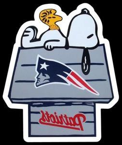 New England Patriots MAGNET custom Die Cut Snoopy Woodstock