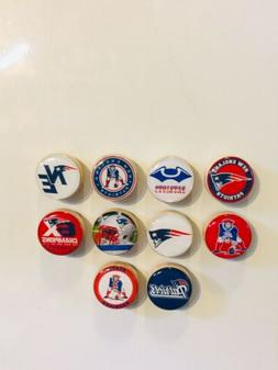 New England Patriots Magnets - Set Of 10 - FREE SHIPPING