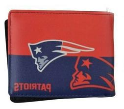 New England Patriots Mens Leather Bi-fold Wallet Colorful NF