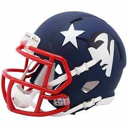 New England Patriots Mini Football Helmet AMP Alternate Revo