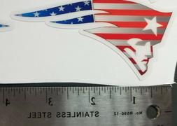 New England Patriots Mini football helmet decals set