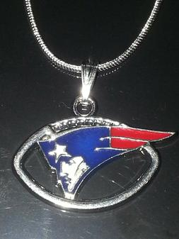 New England Patriots Necklace Pendant Sterling Silver Chain