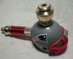 NEW ENGLAND PATRIOTS NFL BRASS Pocket Mini Helmet Pipe